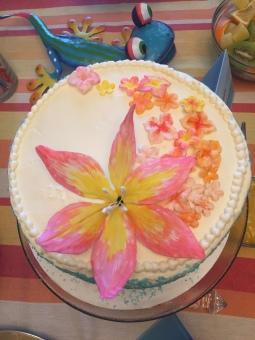 Tropical Bridal Shower Cake