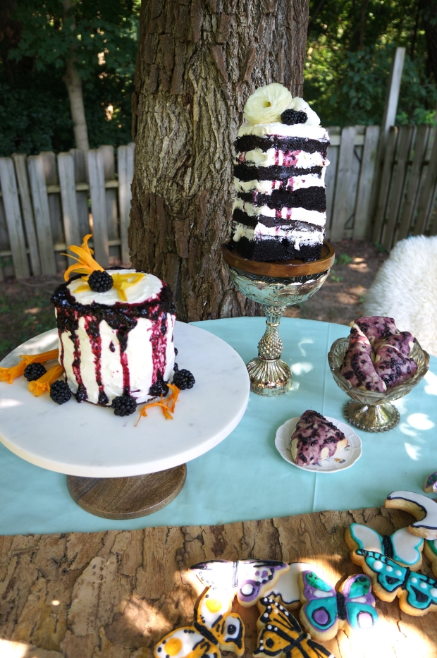 tablescape woodsy party