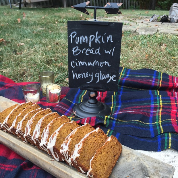 pumpkin bread at the party