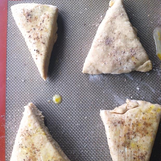 gingerbread scone dough