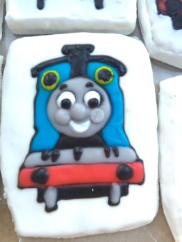 Thomas the Train sugar cookie