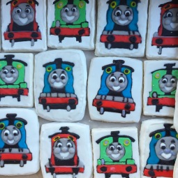 Thomas The Train sugar cookies
