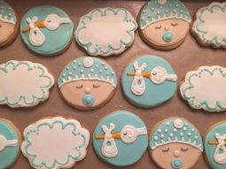 Baby shower sugar cookies